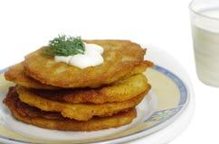 土豆薄烤饼 图库摄影
