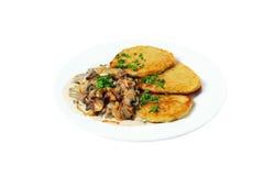 土豆薄烤饼 免版税库存照片