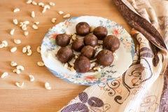 土豆结块与坚果 库存图片