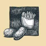 土豆 皇族释放例证