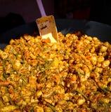 土豆provencal与鸡和菜 库存图片