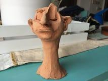 黏土雕象 库存图片