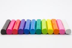 黏土颜色艺术彩虹,创造性的工艺产品 免版税库存图片