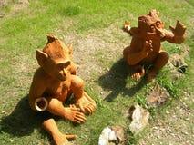 黏土猴子 免版税库存图片