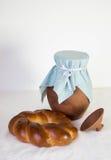 黏土水罐用小圆面包 库存图片