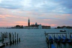 圣・在黎明之前的Giorgio Maggiore 库存照片