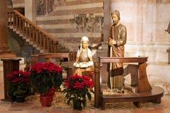 圣・季诺教会的小儿床内部  图库摄影