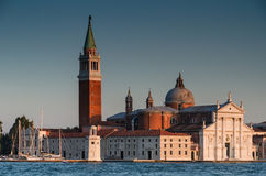 圣・ Giorgio Maggiore教会在威尼斯 免版税库存照片