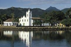 圣丽塔教会在Paraty,里约热内卢状态,胸罩 库存图片