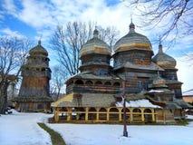 圣乔治东正教在德罗霍贝奇,乌克兰 免版税库存照片