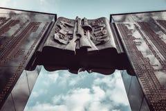 圣乔治丝带以纪念胜利天1945年 免版税图库摄影