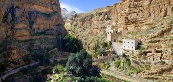 圣乔治修道院,耶路撒冷全景  免版税库存照片