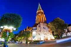 圣乔治教会在索波特-波兰 库存图片