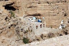 圣乔治的修道院在Judea沙漠以色列 图库摄影