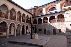 圣乔治绘画入口的对贴水乔治斯,塞浦路斯修道院  免版税图库摄影