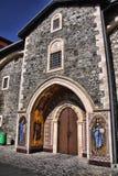 圣乔治绘画入口的对贴水乔治斯,塞浦路斯修道院  库存图片