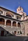 圣乔治绘画入口的对贴水乔治斯,塞浦路斯修道院  库存照片