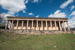 圣乔治老新古典主义的教会在坎塔布里亚,西班牙 免版税库存图片