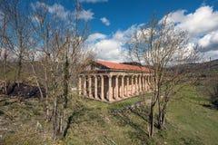 圣乔治老新古典主义的教会在坎塔布里亚,西班牙 库存照片