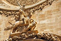 圣乔治雕象 图库摄影