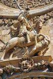 圣乔治雕象 库存照片