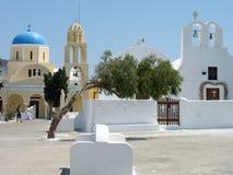 圣乔治, Santorini海岛教会  图库摄影