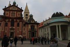 圣乔治` s大教堂,布拉格 免版税库存图片