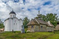 圣乔治` s教会, Staraya拉多加,俄罗斯 库存照片