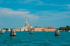圣乔治di Maggiore教会在威尼斯,意大利 免版税库存照片