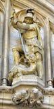 圣乔治中世纪雕象  免版税库存照片