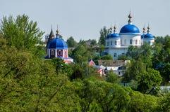 圣乔治修道院在Meshchovsk卡卢加州地区俄国镇  图库摄影