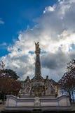 圣乔治洛可可式的喷泉,实验者,德国 图库摄影