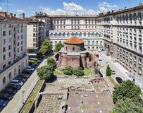 圣乔治圆形建筑的教会索非亚保加利亚 图库摄影