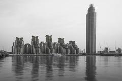 圣乔治塔,伦敦,黑白的英国- 图库摄影