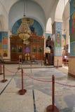 圣乔治教会内部在米底巴,约旦 库存照片