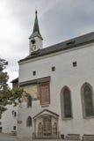 圣乔治教会在萨尔茨堡堡垒Hohensalzburg,奥地利 库存图片