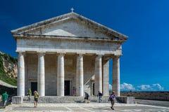 圣乔治教会,老堡垒,科孚岛 库存图片