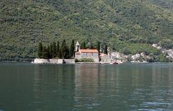 圣乔治教会, Perast,黑山 免版税库存图片