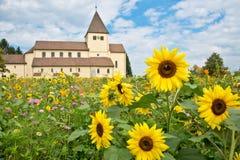 圣乔治教会, Reichenau海岛 库存照片