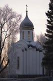 圣乔治教堂战胜,亚历山大・涅夫斯基和德米特里・顿斯科伊 鄂木斯克 免版税库存图片