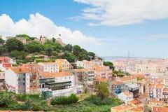 圣乔治的城堡,里斯本,葡萄牙 图库摄影