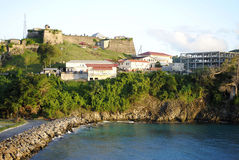 圣乔治的堡垒在格林纳达 免版税库存照片