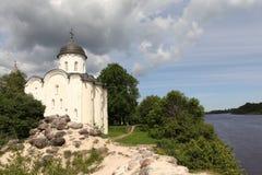 圣乔治的大教堂。Staraya拉多加 免版税库存图片