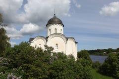 圣乔治的大教堂。Staraya拉多加 免版税库存照片