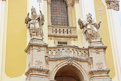 圣乔治的大教堂的前面部分,利沃夫州,乌克兰 免版税库存照片