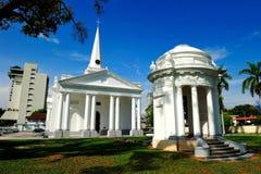 圣乔治的教会,槟榔岛 免版税库存图片