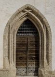 圣乔治的教堂的门Hohensalzburg城堡的,萨尔茨堡,奥地利 免版税库存图片