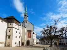 圣乔治的教堂 奥地利萨尔茨堡 库存照片