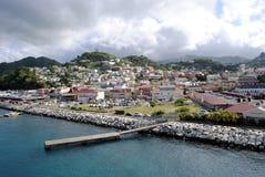 圣乔治的港口在格林纳达 免版税库存图片