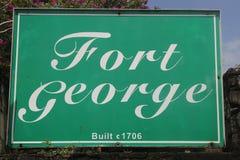 圣乔治`的s,格林纳达历史乔治堡 库存照片